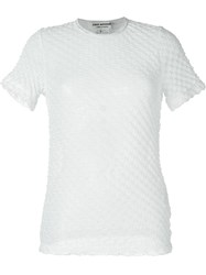 Junya Watanabe Comme Des Gara Ons Textured Sheer T Shirt White