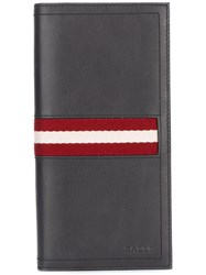Bally Striped Wallet Grey