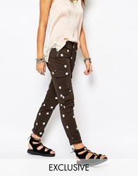 Native Rose Festival Daisy Military Trousers Green