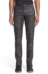 Belstaff Men's 'Easington' Slim Straight Coated Moto Jeans Black