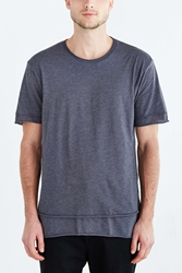 Feathers Double Layer Tee Dark Grey