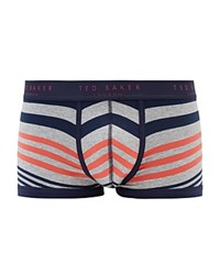 Ted Baker Dicetow Contrast Stripe Boxers Gray Marl