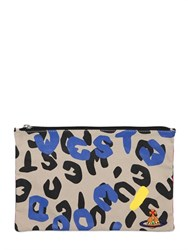 Vivienne Westwood Smiley Printed Cotton Canvas Pouch