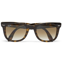 Ray Ban Folding Wayfarer Acetate Sunglasses Tortoiseshell