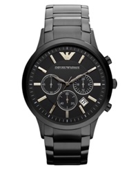 Emporio Armani Watch Chronograph Black Ion Plated Stainless Steel Bracelet 43Mm Ar2453