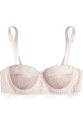 Mimi Holliday Oyster Whippy Lace And Stretch Silk Satin Balconette Bra Pink