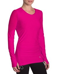 Mpg Continuity Long Sleeve Top Neon Pink