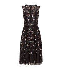 Needle And Thread Floral Ombre Embellished Dress Female Black
