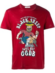 Golden Goose Deluxe Brand Black Sheep Print T Shirt Red