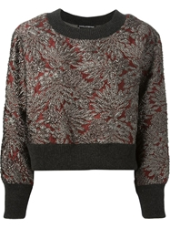 Dolce And Gabbana Floral Embroidered Sweatshirt