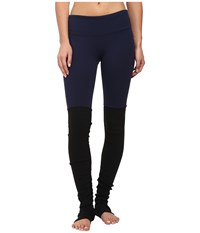 Alo Yoga Goddess Ribbed Legging Rich Navy Black Women's Workout