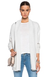 Inhabit Weekend Cashmere Cardigan In Gray