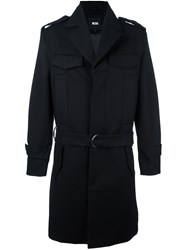 Ktz Pocketed Trench Coat Black