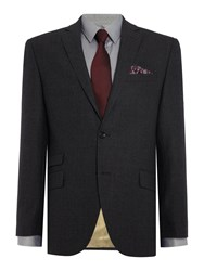 Corsivo Olario Cashmere Blend Flannel Suit Jacket Charcoal