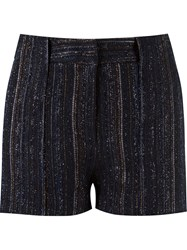 Giuliana Romanno Stripped Knitted Shorts Black