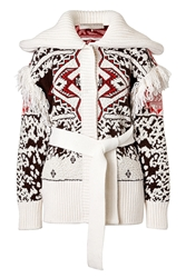 Emilio Pucci Tribal Printed Mohair Wool Cardigan