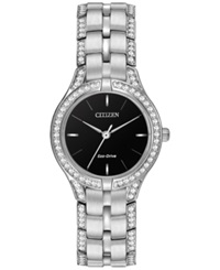 Citizen Women's Eco Drive Crystal Accent Stainless Steel Bracelet Watch 28Mm Fe2060 53E