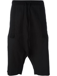 Lost And Found Rooms Drop Crotch Drawstring Shorts Black