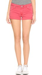 Hudson Hampton Cuffed Shorts Red Stone