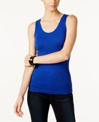 Inc International Concepts Ribbed Tank Top Only At Macy's Goddess Blue