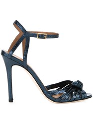 Scanlan Theodore Knot Front Stiletto Sandals Blue