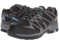Wolverine Fletcher Nt Low Wpf Work Hiker Black Blue Women's Lace Up Casual Shoes