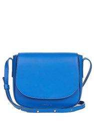 Mansur Gavriel Mini Cross Body Leather Satchel Bag Blue