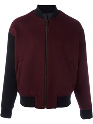 System Zipped Bomber Jacket Red