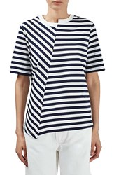 Topshop Women's Boutique Reconstructed Stripe Tee