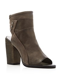 Dolce Vita Niki Open Toe Zip Up Booties Charcoal