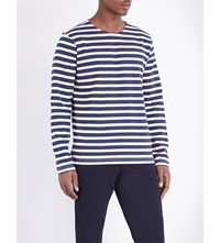 Paul Smith Ps By Breton Cotton Jersey Top Blue