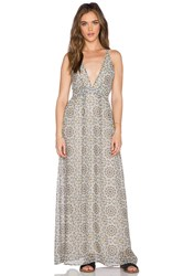 Oh My Love Plunge Maxi Dress Tan