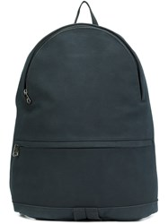 A.P.C. Zipped Backpack Blue