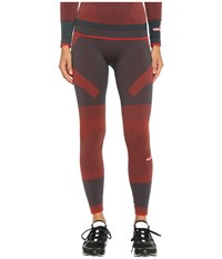 Adidas By Stella Mccartney Essentials Seamless Tights Ax7346 Cherry Wine Solid Grey Women's Casual Pants Brown