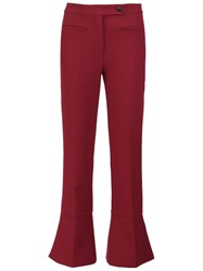 Fendi Bootcut Trousers Red