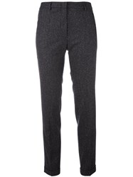 Incotex Pinstriped Trousers Grey