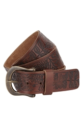 A. Kurtz 'Shaw' Leather Belt Brown