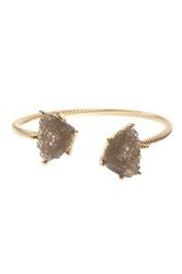 Bansri Sahara Agate Druzy Bangle Gray