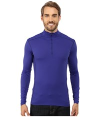 Arc'teryx Phase Sl Zip Neck L S Sodalite Men's Long Sleeve Pullover Blue