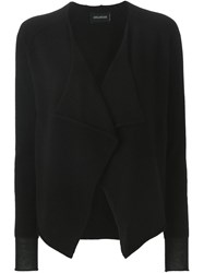 Zadig And Voltaire Draped Front Cardigan Black
