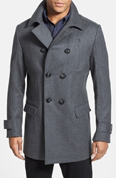 Rodd And Gunn 'Gilbert' Tailored Fit Italian Wool Blend City Coat Charcoal Grey