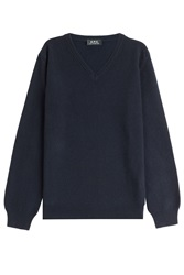 A.P.C. Wool Cashmere Pullover Blue