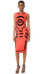 Mcq By Alexander Mcqueen Cutout Body Con Dress True Red