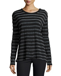 Zadig And Voltaire Willy Long Sleeve Metallic Stripe Top
