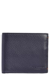 Ted Baker Men's London 'Dock' Leather Wallet Blue Navy