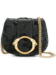 Roberto Cavalli Small Star Patch Shoulder Bag Black
