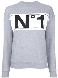 Etre Cecile 'No1' Boyfriend Sweatshirt Grey