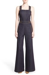 Women's Olivia Palermo Chelsea28 Wide Leg Denim Jumpsuit