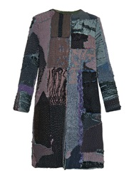By Walid Gigi Vintage Patchwork Chinese Silk Coat