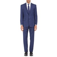 Ralph Lauren Black Label Pinstriped Anthony Two Button Suit Navy Cream